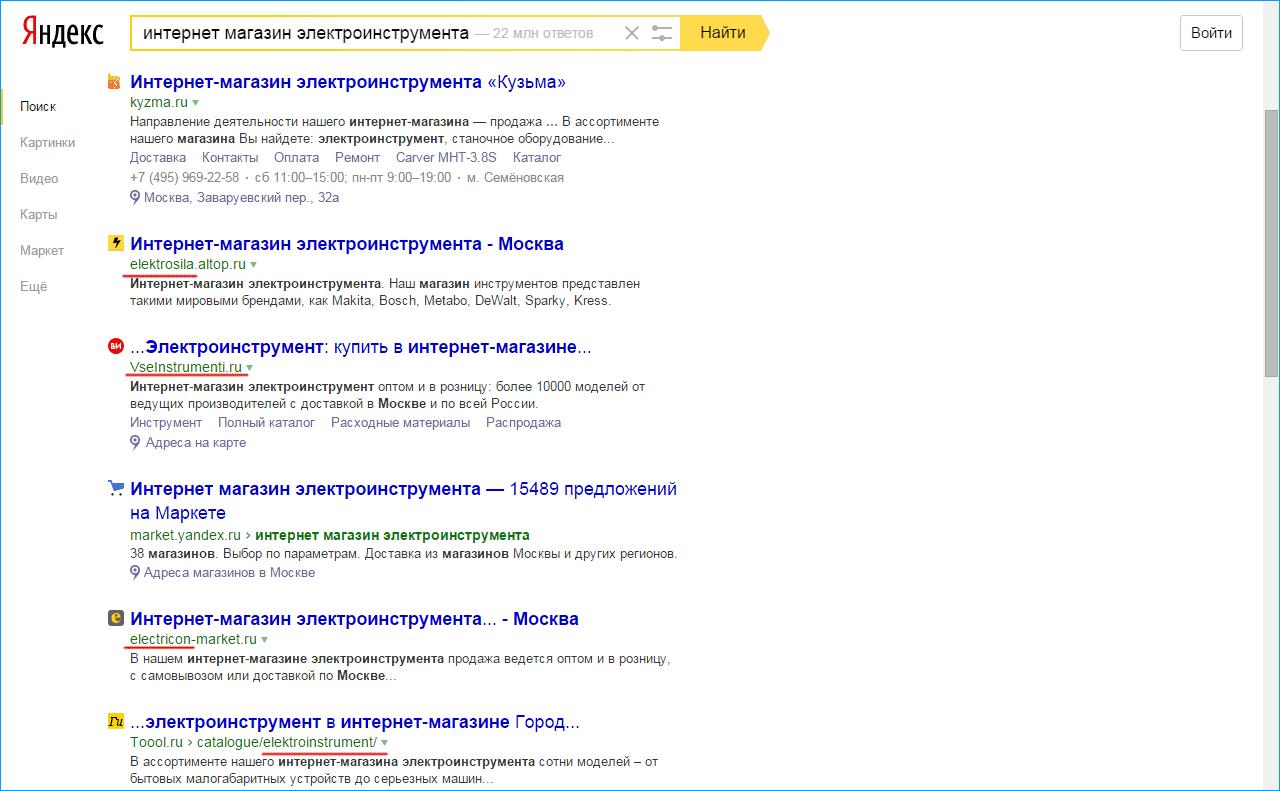 тематика сайта в имени домена