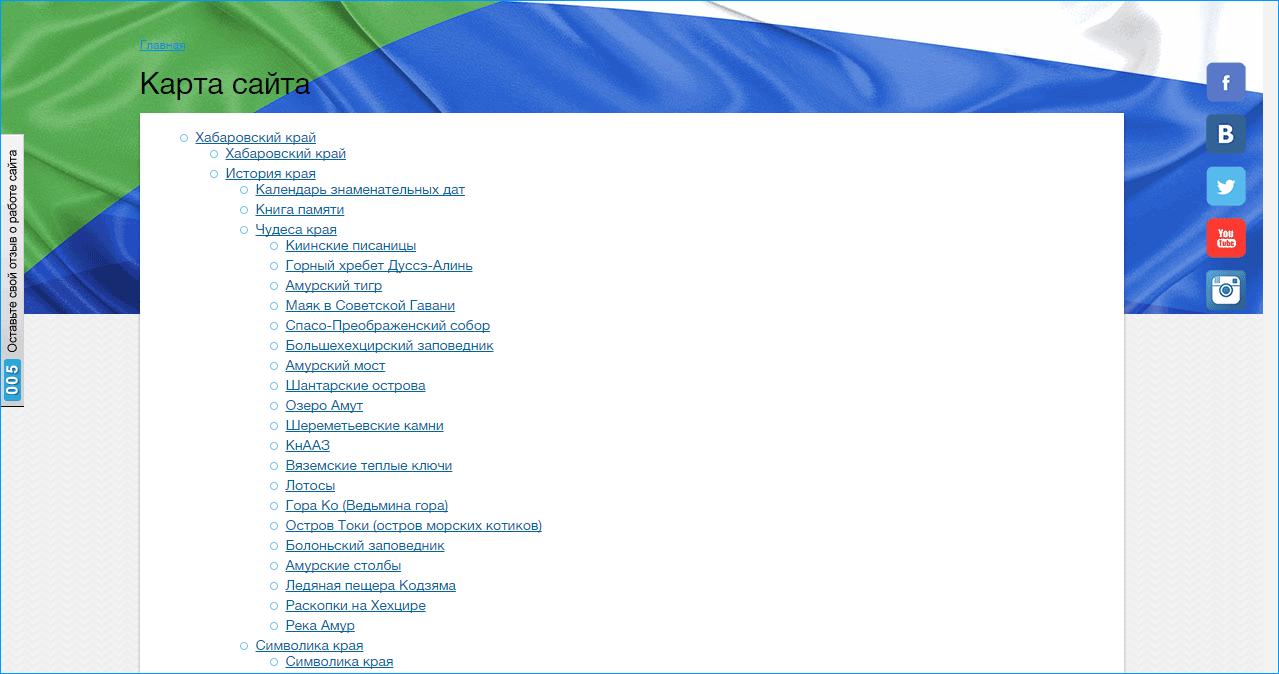 пример сайтмап html