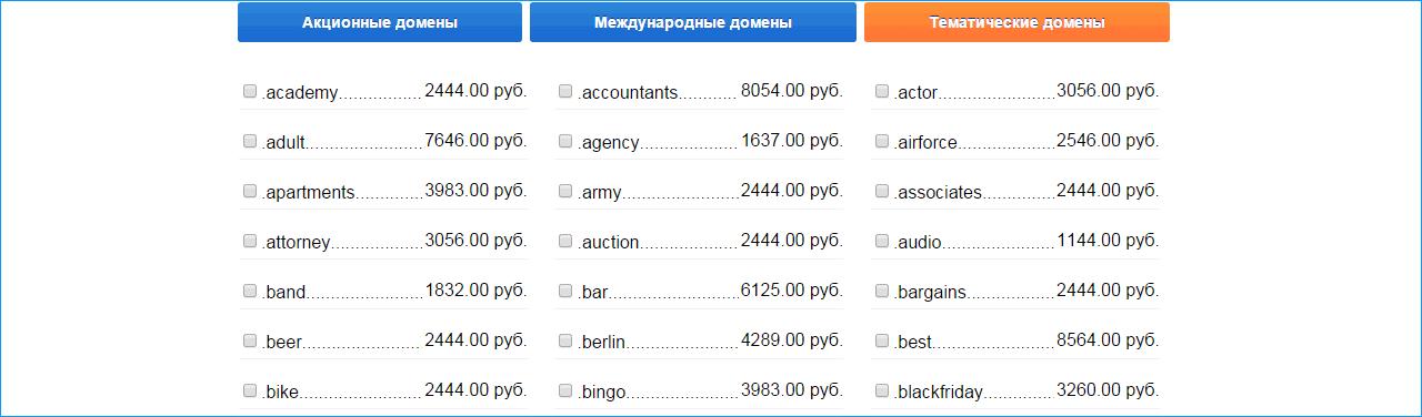 тематические домены