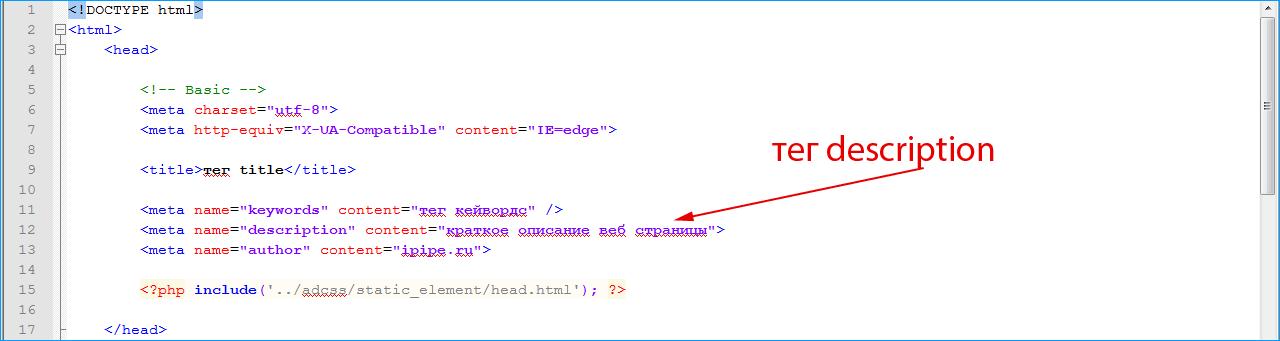 пример тега в коде html