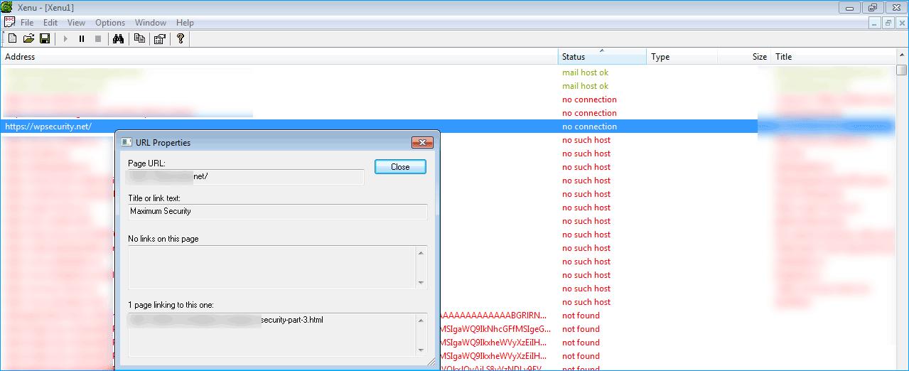 поиск 404 в xenu Link Sleuth