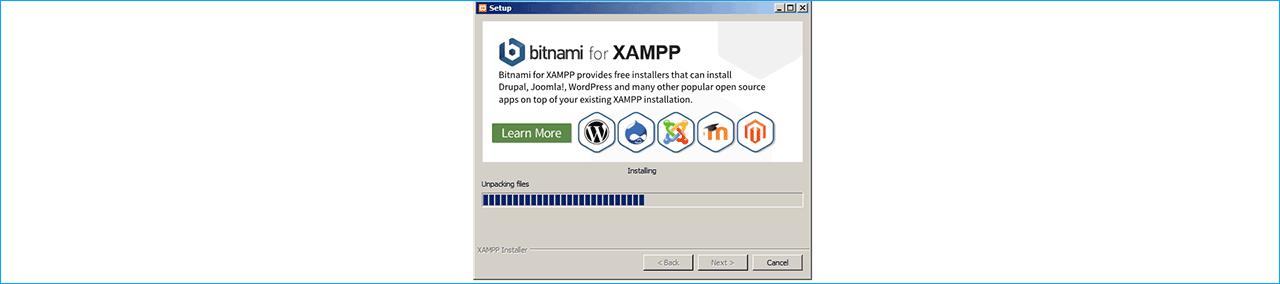 распаковка XAMPP